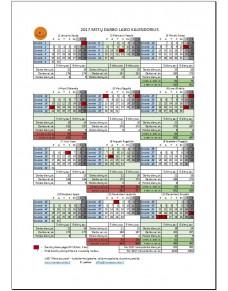 2016 metų darbo laiko kalendorius