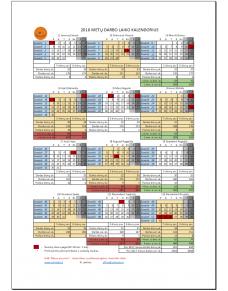 2018 metų darbo laiko kalendorius