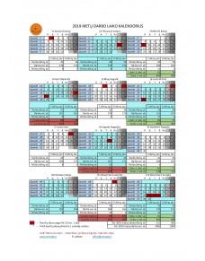2019 metų darbo laiko kalendorius