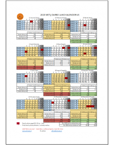 2020 metų darbo laiko kalendorius
